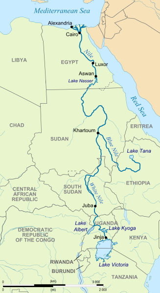 River Nile Map ..